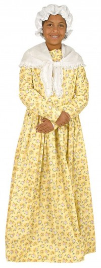 A child-size Phillis Wheatley costume from Heritage Costumes.