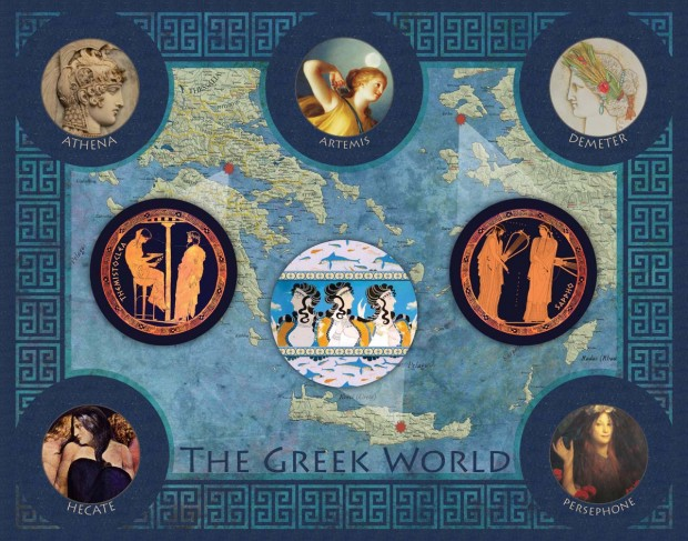 The Greek World, Hecate version:  available as a digital download, 8x10 print, or 11x14 print