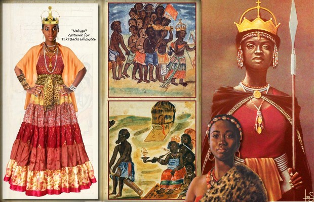 Our costume for Queen Nzinga