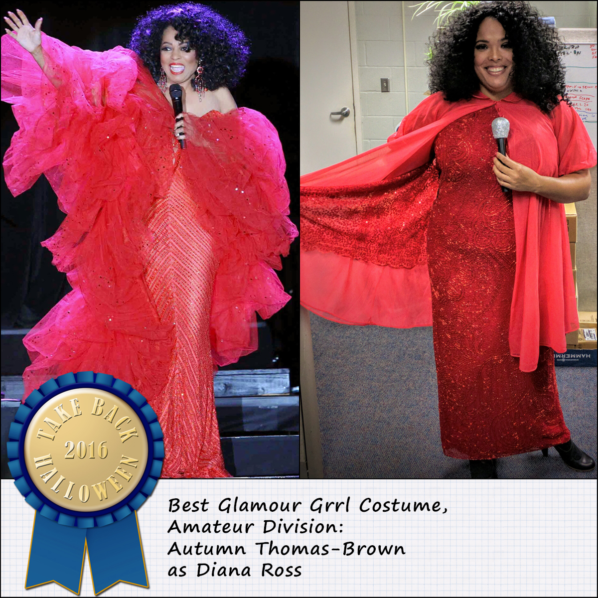 autumn takes the prize in this category for the second year in a row with her modern diana ross ensemble
