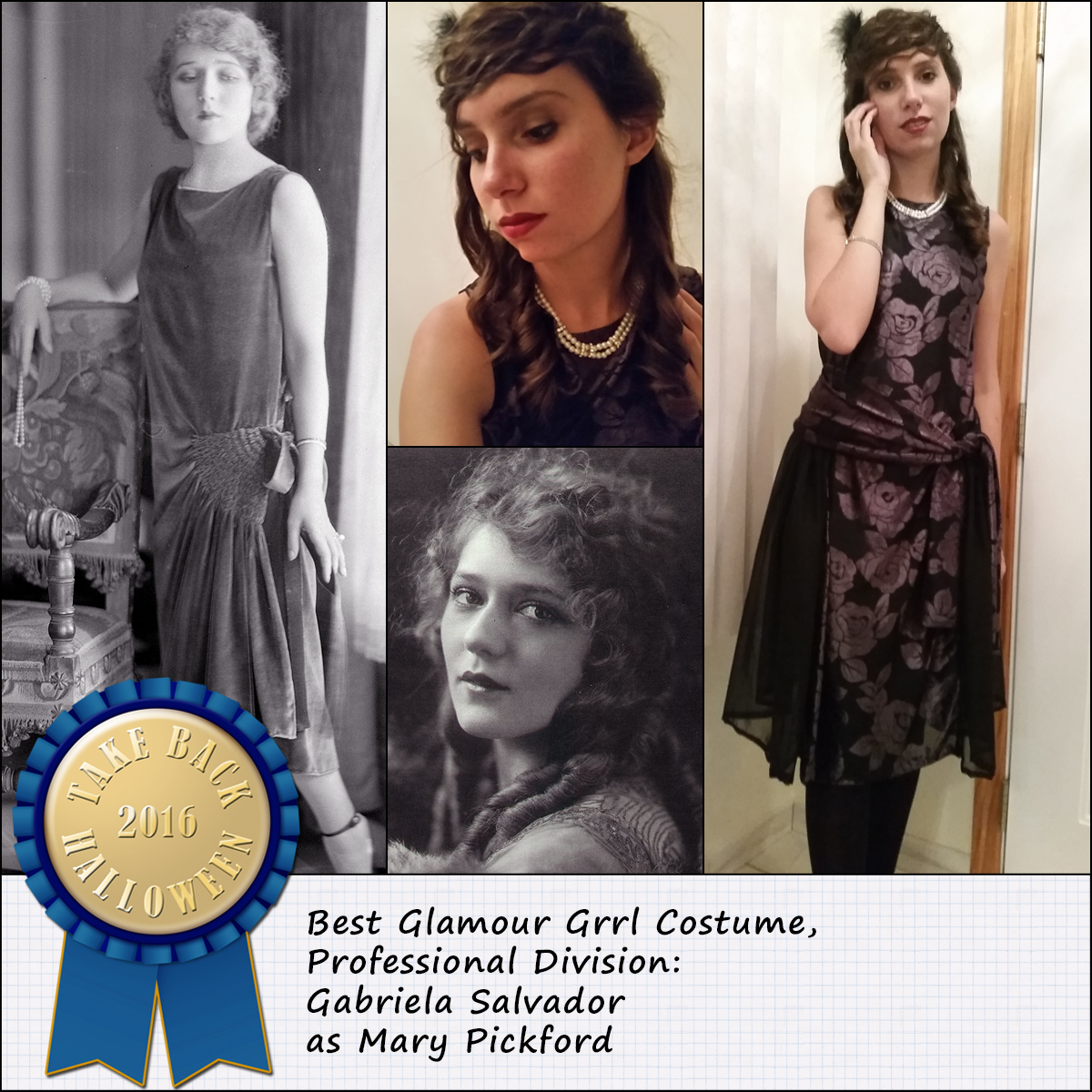 This is Mary Pickford as she appeared in the mid-1920s before she cut her hair so itu0027s that interesting in-between period Jazz Age dress with ...  sc 1 st  Take Back Halloween! & Halloween 2016 Costume Contest Winners | Take Back Halloween!