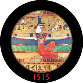 Isis.  One of 17 button designs in our Goddesses and Legends category.