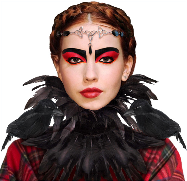 The Morrigan costume closeup